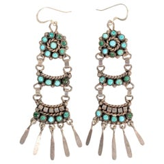 Zuni Turquoise and Sterling Earrings