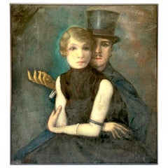 'Zwiegespräch III' Paris, 1925, by Hermer Charles Schmidt