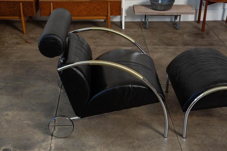 Zyklus Chair and Ottoman by Peter Maly For Sale 3