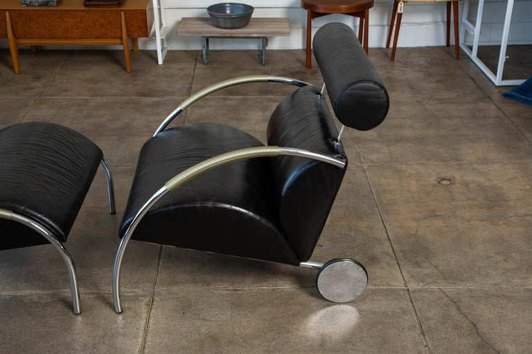 Zyklus Chair and Ottoman by Peter Maly For Sale 4