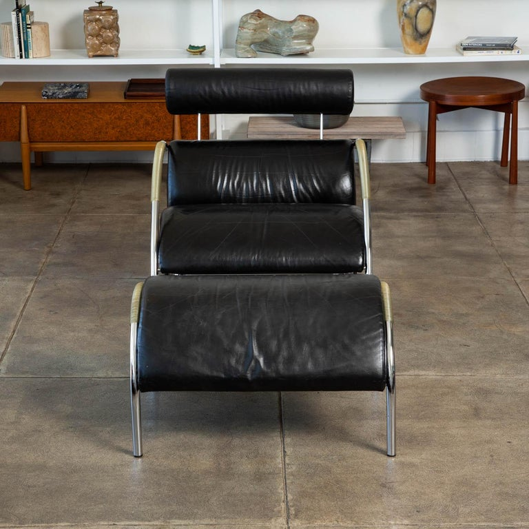 German Zyklus Chair and Ottoman by Peter Maly For Sale