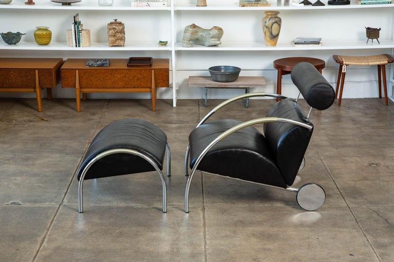 Zyklus Chair and Ottoman by Peter Maly In Excellent Condition For Sale In Los Angeles, CA