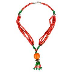 ZYRLAT Red Beaded Necklace