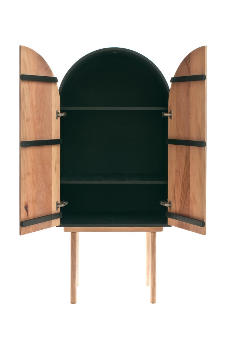 American ZZ Cabinet, Handmade Freestanding Dry Bar by Pat Kim For Sale