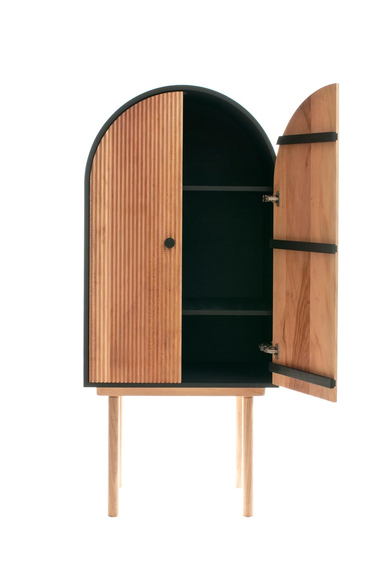 ZZ Cabinet, Handmade Freestanding Dry Bar by Pat Kim In New Condition For Sale In Brooklyn, NY