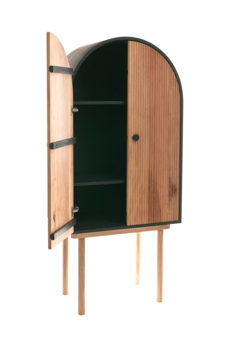 Contemporary ZZ Cabinet, Handmade Freestanding Dry Bar by Pat Kim For Sale